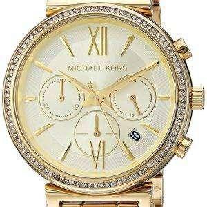마이클 Kors 크로 노 그래프 쿼 츠 다이아몬드 악센트 MK6559 여자의 시계