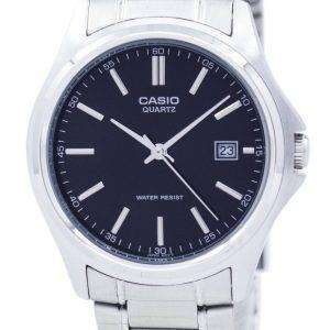 카시오 석 영 아날로그 스테인레스 스틸 블랙 다이얼 MTP-1183A-1ADF MTP-1183A-1A 남자 시계