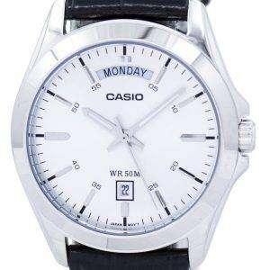 카시오 아날로그 실버 다이얼 MTP-1370 L-7AVDF MTP-1370 L-7AV 남자 시계
