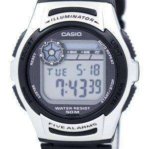 카시오 청소년 조명 기 듀얼 타임 디지털 W-213-1AV W213-1AV 남자 시계