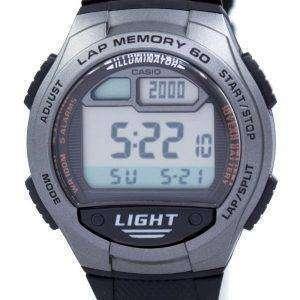 카시오 청소년 조명 기 듀얼 타임 디지털 W-734-1AV W734-1AV 남자 시계