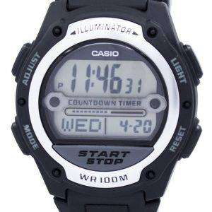 카시오 조명 세계 시간 디지털 W-756-1AV W756-1AV 남자 시계