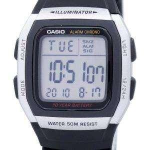 카시오 청소년 디지털 알람 크로 노 조명 기 W-96 H-1AVDF W-96 H-1AV 남자의 시계