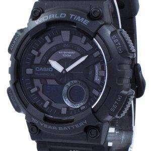 카시오 청소년 Telememo 30 세계 시간 AEQ-110W-1BV AEQ110W-1BV 남자 시계