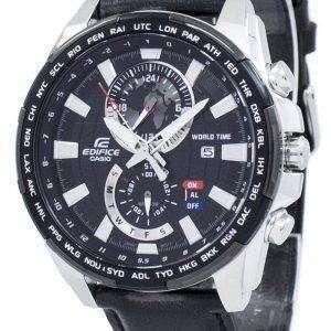 건반 건물 세계 시간 석 영 EFR-550 L-1AV EFR550L-1AV 남자 시계