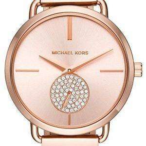 마이클 Kors 포 샤 다이아몬드 악센트 석 영 MK3640 여자의 시계