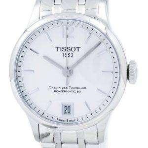 Tissot T-클래식 Chemin Des Tourelles Powermatic 80 레이디 T099.207.11.037.00 T0992071103700 여자의 시계