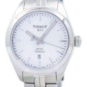 Tissot T-클래식 홍보 100 티타늄 석 영 T101.210.44.031.00 T1012104403100 여자 시계