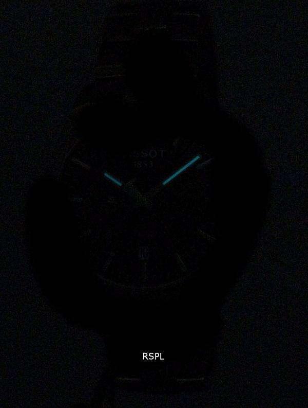 Tissot T-클래식 홍보 100 듀얼 타임 석 영 T101.452.11.061.00 T1014521106100 남자의 시계