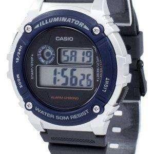 카시오 조명 기 크로 노 그래프 알람 W-216 H-2AV W216H-2AV 남자 시계