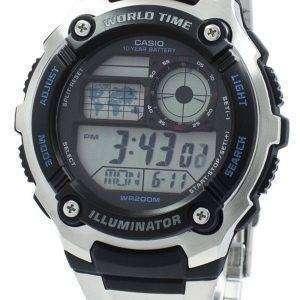 카시오 청소년 조명 세계 시간 디지털 AE-2100WD-1AV AE2100WD-1AV 남자 시계