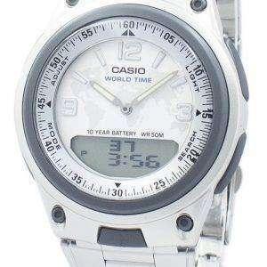 카시오 세계 시간 아날로그 디지털 AW-80 D-7A2V AW80D-7A2V 남자의 시계