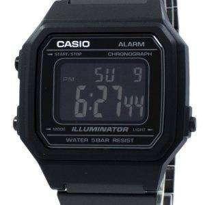 카시오 조명 기 크로 노 그래프 알람 디지털 B650WB-1B 남 여 시계