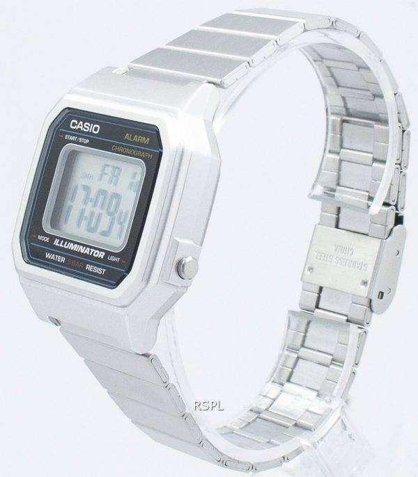 Casio 클래식 빈티지 조명 기 크로 노 그래프 알람 디지털 B650WD-1A 남녀 시계