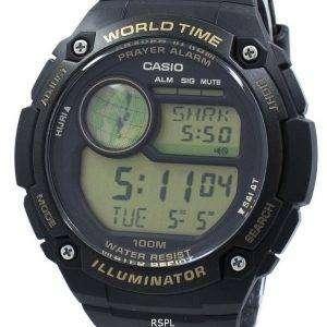 카시오 조명 세계 시간 기도 알람 디지털 CPA-100-9A CPA100-9A 남자 시계