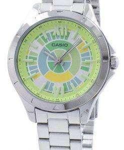 카시오 아날로그 석 영 LTP-E129D-3A LTPE129D-3A 여자의 시계