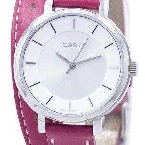 카시오 아날로그 석 영 더블 루프 LTP-E143DBL-4A1 LTPE143DBL 4A1 여자 시계
