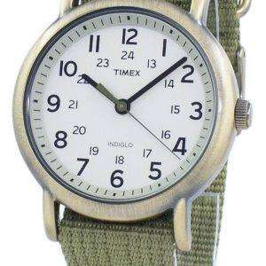 Timex Weekender Indiglo 석 영 T2N894 남 여 시계