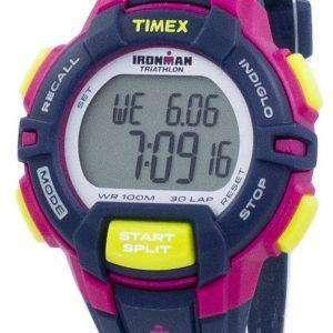 타이 멕 스 Ironman 트라이 애슬론 견고한 30 랩 Indiglo 디지털 T5K813 여자 시계 스포츠
