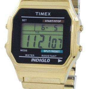타이 멕 스 클래식 Indiglo 크로 노 그래프 알람 디지털 T78677 남자의 시계