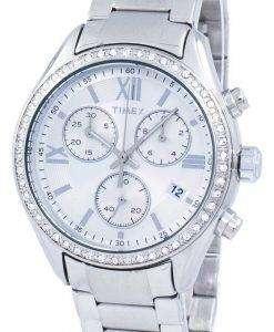 타이 멕 스 마이애미 크로 노 그래프 쿼 츠 다이아몬드 악센트 TW2P66800 여자의 시계