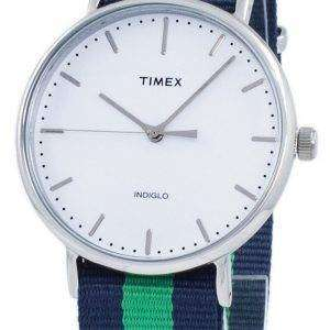 Timex Weekender 페어필드 Indiglo 석 영 TW2P90800 남 여 시계