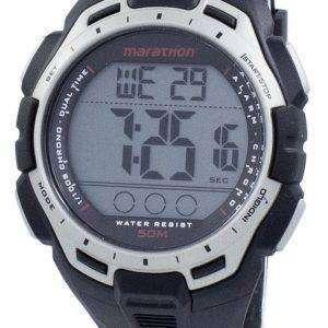 타이 멕 스 스포츠 크로 노 그래프 듀얼 타임 Indiglo TW5K94600 남자 마라톤의 시계
