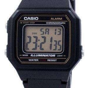 Casio 클래식 조명 기 크로 노 그래프 알람 W-217 H-9AV W217H 9AV 남자 시계