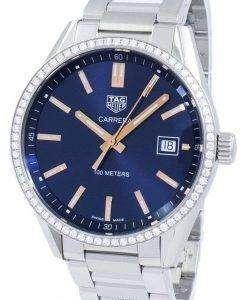 태그 Heuer 카레 라 석 영 다이아몬드 악센트 WAR1114 BA0601 여자의 시계