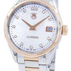 태그 Heuer 카레 라 석 영 다이아몬드 악센트 WAR1352 BD0779 여자의 시계