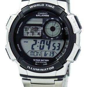 카시오 청소년 디지털 세계 시간 AE-1000WD-1AV 남자 시계