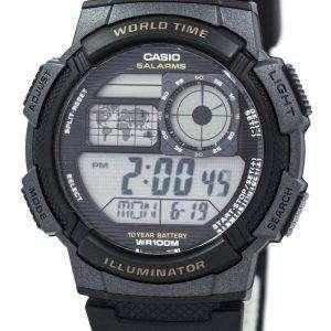카시오 청소년 디지털 세계 시간 AE-1000W-1AV 남자 시계