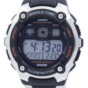 카시오 디지털 세계 시간 AE-2000WD-1AVDF AE-2000WD-1AV 남자 스포츠 시계
