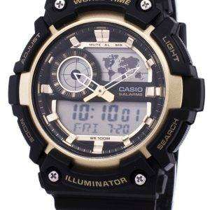 카시오 조명 세계 시간 알람 AEQ 200W 9AV AEQ200W 9AV 남자의 시계