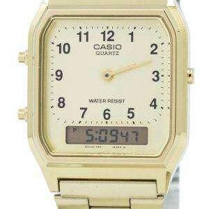 카시오 석 영 아날로그-디지털 AQ-230GA-9B 남자의 시계