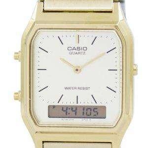 카시오 석 영 아날로그 디지털 골드 톤 AQ-230GA-9DMQYES 남자의 시계