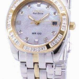 시민 Paladion 에코-드라이브 다이아몬드 악센트 EW1594-55 D 여자의 시계