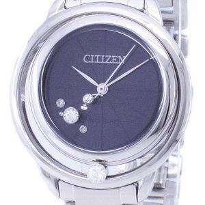 시민 L 일출 카드 놀이 에코-드라이브 EW5520-50E 여자의 시계