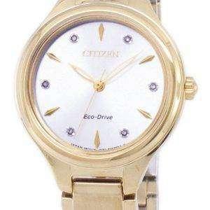 골프 코스 에코 드라이브 시민 다이아몬드 악센트 FE2102 55A 여자의 시계