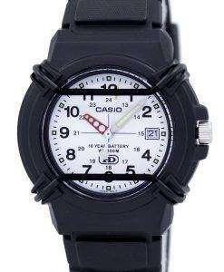 카시오 Enticer 아날로그 화이트 다이얼 HDA 600B 7BVDF HDA 600B 7BV 남자의 시계