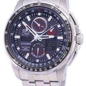 시민 Promaster Skyhawk A-T 에코 드라이브 무선 제어 JY8050-51E 남자의 시계