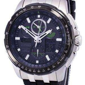 시민 Promaster Skyhawk A-T 에코 드라이브 무선 제어 JY8051-08E 남자의 시계