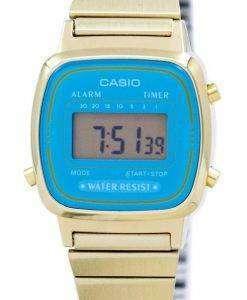카시오 디지털 스테인리스 알람 타이머 LA670WGA 2DF LA670WGA-2 여자의 시계