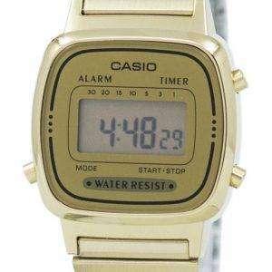 카시오 디지털 스테인리스 알람 타이머 LA670WGA 9DF LA670WGA 9 여자의 시계