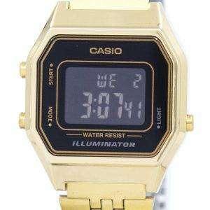 카시오 디지털 석 영 스테인리스 조명 기 LA680WGA-1BDF LA680WGA-1B 여자의 시계