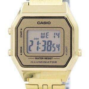 카시오 디지털 석 영 스테인리스 조명 LA680WGA 9DF LA680WGA 9 여자의 시계