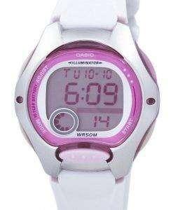 카시오 디지털 스포츠 조명 LW-200-7AVDF 여자의 시계