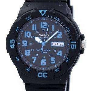 카시오 석 영 아날로그 블랙 다이얼 MRW-200 H-2BVDF MRW-200 H-2BV 남자의 시계