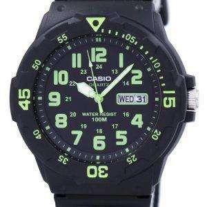 카시오 석 영 아날로그 블랙 다이얼 MRW-200 H-3BVDF MRW-200 H-3BV 남자의 시계