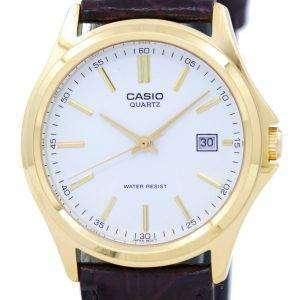 카시오 석 영 아날로그 화이트 다이얼 골드 톤 MTP-1183Q-7ADF MTP-1183Q-7A 남자 시계